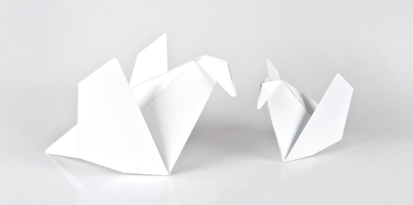 Metal Origami Birds Cors